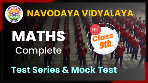 JNVST MATHS MOCK TEST CLASS 9