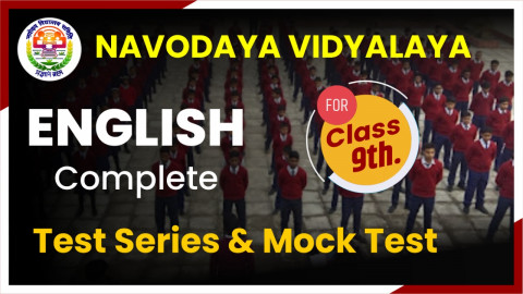 JNVST ENGLISH MOCK TEST CLASS 9