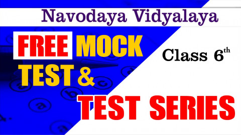 JNV MOCK TEST FREE FOR CLASS 6