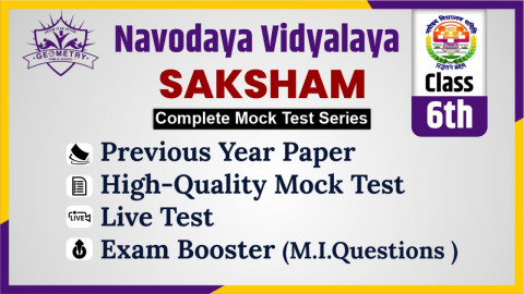 Navodaya Mock Test 2021 Class 6