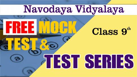 JNV CLASS 9TH FREE MOCK TEST